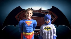 kid batman and superman